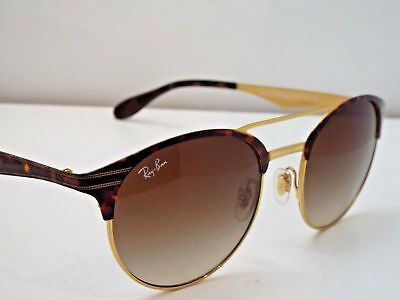 Authentic Ray-Ban RB 3545 9008/13 Tortoise Gold Brown Gradient Sunglasses $229