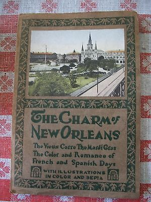 ANTIQUE 1928 BOOK THE CHARMS OF NEW ORLEANS W.G. MacFARLANE MARDI GRAS & PHOTOS