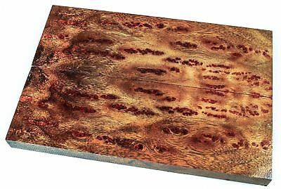 Stunning Figure, Full Size Camphor Burl Knife Scales, Stabilized Wood SCL7133
