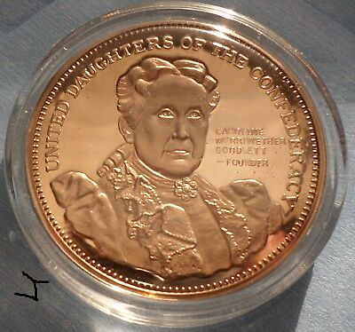 United Daughters of The Confederacy Caroline Goodlett Beautiful Vintage Medal