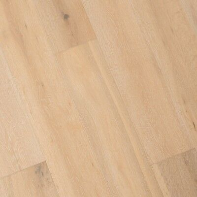 Wide Plank French Oak Wood Floor, Antique White, Prefinished Engineered, Sample