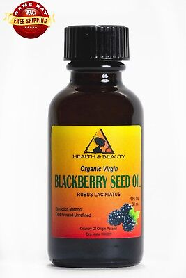 Blackberry Seed Oil Unrefined Organic Virgin Cold Pressed Raw Premium Pure 1 Oz
