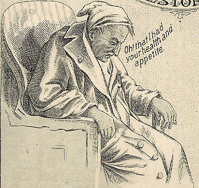 Parker's Ginger Tonic Trade Card, Old Man Before Tonic & All Well After   C1339