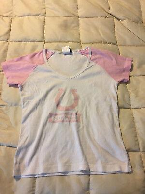 dccf27659 WOMENS VICTORIAS SECRET Pink INDIANAPOLIS COLTS T Shirt Size Small ...