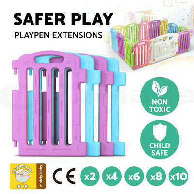 Baby Playpen Interactive Play Pen Safety Gate Fence Extension - 2/4/6/8/10pcs