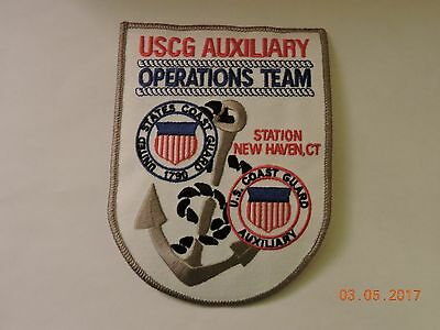 US Coast Guard Auxiliary Operations Team New Haven CT USCG Military Patch #90