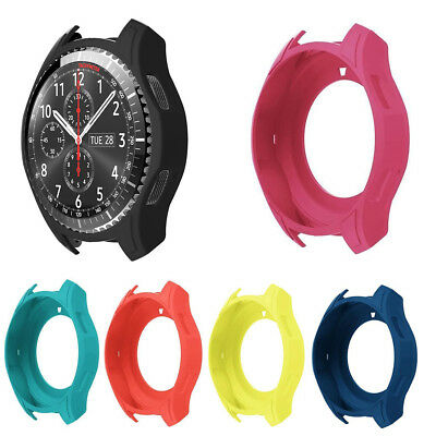 For Samsung Galaxy Watch 46mm Protective Case Shell Bumper Frame Silicone Cover