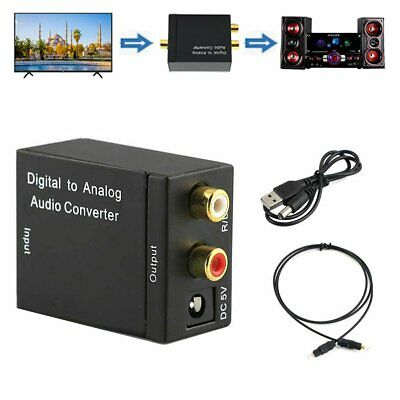 3.5mm Optical Coaxial/Toslink Digital to Analog Audio Converter Adapter RCA L/R