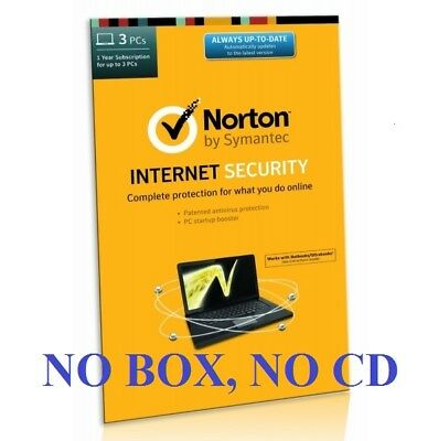Norton Internet Security 2018 1 Year / 3 PC - License Activation Key