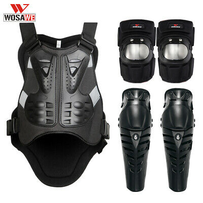 Motorcycle Motocross Body Protective Gear Armor vest Elbow Knee pads Guard Bike