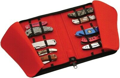 Folding Pocket Knife Storage Carrying Collection Display Case Holds 16 Knives