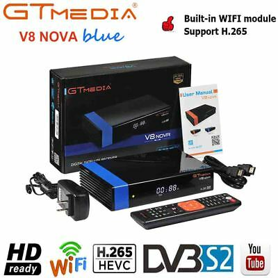 GTMEDIA V8 Nova DVB-S2 Satellite Receiver FTA HD 1080P Decoder Built-in WIFI PVR
