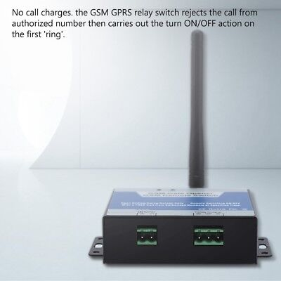 GSM Door Gate Opener Relay Free Cell Phone Remote Control Wireless Door Switch