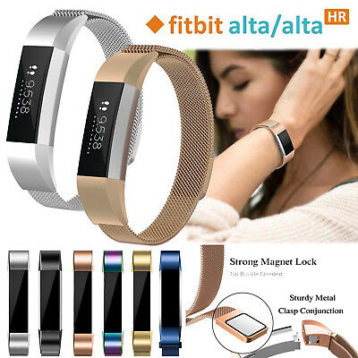 Magnetic Milanese Stainless Steel Watch Band Strap for Fitbit Alta / Alta HR S/L
