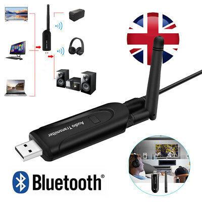 Wireless Bluetooth 4.0 Audio Transmitter A2DP Stereo Adapter USB 3.5mm For TV PC
