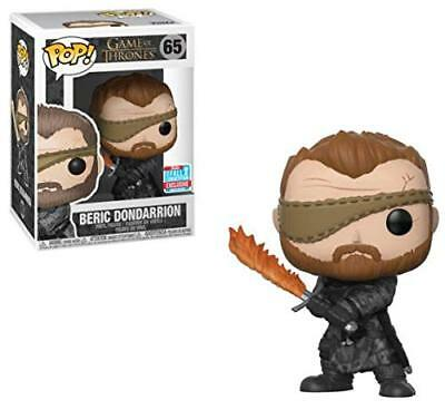 Funko Pop Game of Thrones 65 34621 Beric Dondarrion Flame Sword NYCC2018