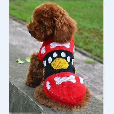 Small Pet Dog Puppy Cat Sweater Clothes Knit Coat Jacket Warm Outwear Clothing