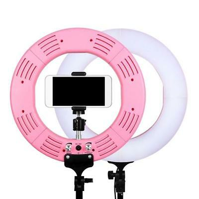 Dimmbare 2700-5500K Foto Video Continuous LED Ring Licht  Stand+Storage Bag