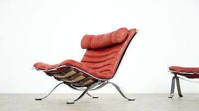 Arne Norell, Ari Lounge Chair and Ottoman, 1966 or Norell Möbel, Aneby Sweden