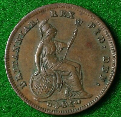 1835 William IV Third Farthing in Very Nice condition -  FREE UK POSTAGE