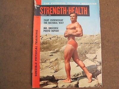 "Vintage ""Strength & Health"" bodybuilding & strongman magazine Feb 1962"