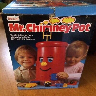 Mr Chimney Pot Bluebird Vintage 1986 Boxed See Description