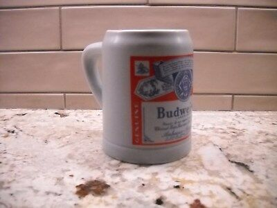 Beer Stein - Budweiser, approximately 5 inches tall.