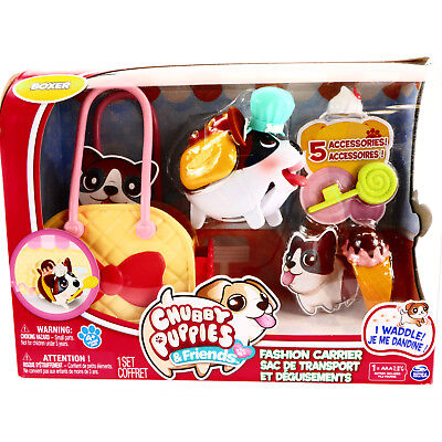 Chubby Puppies Friends Boxer Fashion Carrier Playset 2076