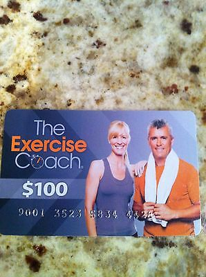 $100 The Exercise Coach (Gym/workout) Gift Card