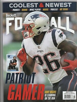 New Current Beckett Football Price Guide Magazine, February 2019 (Sony Michel)