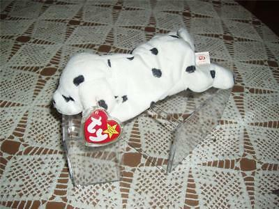 Rare TY 4100 Beanie Baby Sparky The Dalmatian with Dotty tush Tag 4th Gen swing