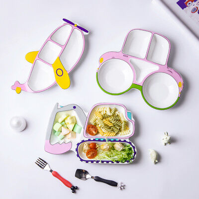 Premium Kids Dinner Divider Plate Novelty Tableware Children Food Tray