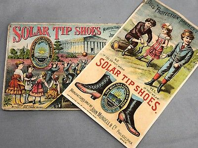 1880s SOLAR TIP SHOES Button Hook VICTORIAN TRADE CARD Antique Advertising