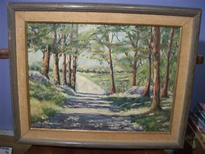 American OIL on canvas mid 20th Century Landscape painting Theodore Cohen 19X15
