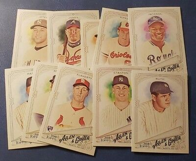 2018 Topps Allen & Ginter (1-350) Base Cards Rookies SP (A-J) You Pick From List