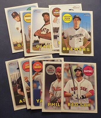 2018 Topps Heritage High Short Prints SP 701-725 You Pick From List
