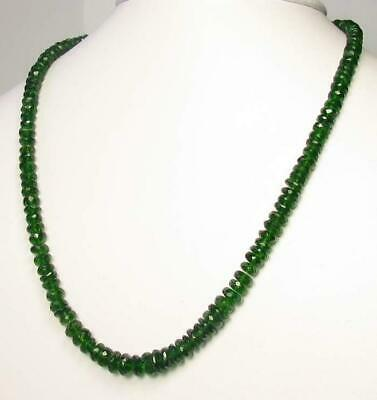 133cts Natural Green Chrome Diopside Faceted Strand 9798