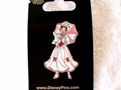 Disney * MARY POPPINS - White Dress * New on Card Movie Character Trading Pin