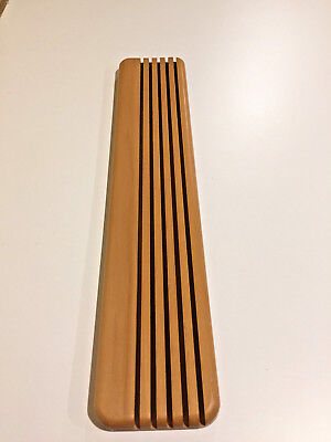 quilters quilting wood ruler rack stand display sewing 5 slots usa made EUC