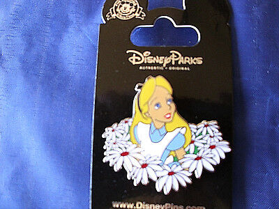 Disney ALICE & FLOWERS - DAISIES * New on Card Wonderland Character Trading Pin