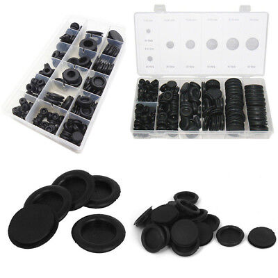 170 Pcs NBR Black Extensive Rubber Stoppers Body Plugs Stopper Plug New
