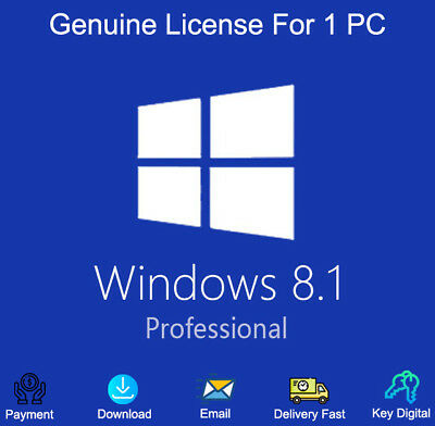 Windows 8.1 Professional 32/64-Bit For 1 PC License Genuine