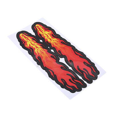 Creative Red Sticker Flame Pattern For Bumper Car Tail Cover Body Decoration CB