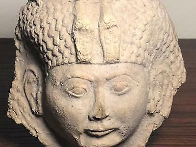 """Extremely rare ancient Egpytian head of """"MUT"""" mother goddess diety"""