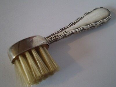 Stunning Antique Solid Silver Moustache Brush