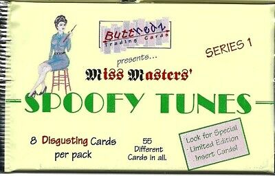 ButtHedz Miss Masters Spoofy Tunes Series 1 1993 sealed pack of 8 parody cards
