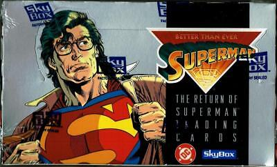 1993 Skybox/dc Comics The Return Of Superman! Factory Sealed 36 Pack Box!