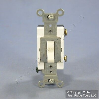 Leviton Lt Almond COMMERCIAL Toggle Wall Light Switch Single Pole 15A CSB1-15T