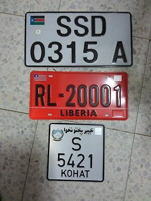 SOUTH SUDAN ALUMINUM License Plate Number Plate 34X18 CM