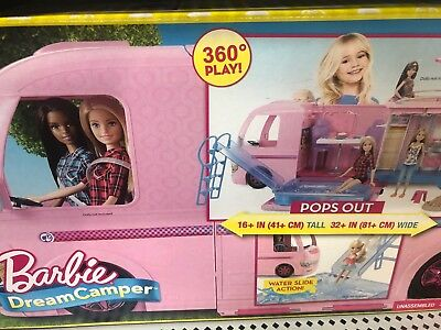 Barbie Dream Camper Adventure Camping Playset NEW DAMAGED BOX